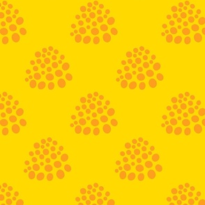 Boho Abstract Polka Dot in Orange Yellow - LARGE Scale - UnBlink Studio by Jackie Tahara