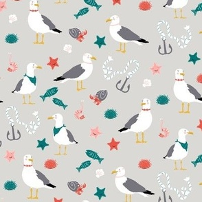 Seaside Seagulls, Harbor Grey