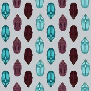 Royal Blue and Purple Scarab Beetle Bugs