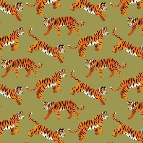 Bengal Tigers - Pine Green - Small Scale