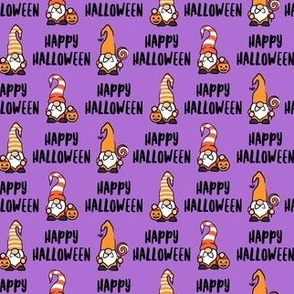 Happy Halloween - Gnomes - purple - LAD21