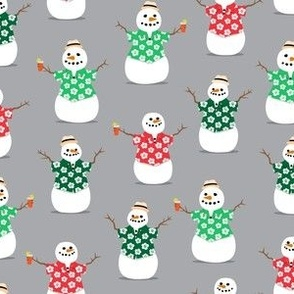 Summer Snowman - grey - tropical Christmas - LAD21