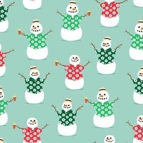 Summer Snowman - mint - tropical Christmas - LAD21