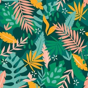 Tropical Leaves - Teal