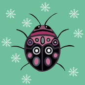 Christmas Picasso bugs green