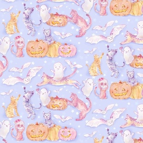 Pastel Lilac Halloween Magical Night _small