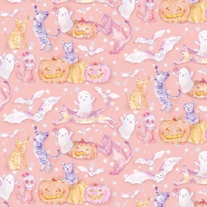 Pastel Bonbon Pink Halloween Magical Night _small