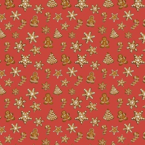 Christmas cookies _red palette