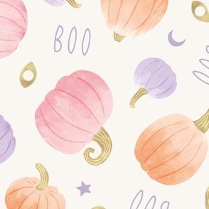 Pastel Pumpkins Halloween Party, light (jumbo)