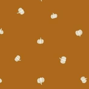 Burnt Orange Pumpkins Fabric for Fall