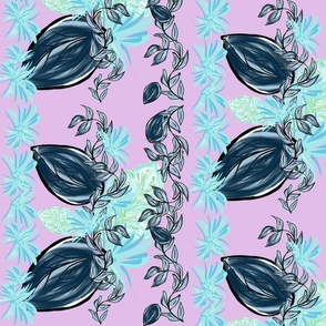 night tropics flora vine - lovely lilac LG 105