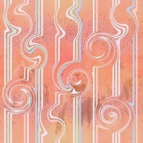 Neutral Geometric pink tones swirls