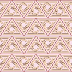 Neutral Geometric triangles pink and gold