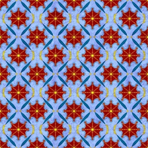 Doodled_Geometric in Red_ Blue_ and Yellow