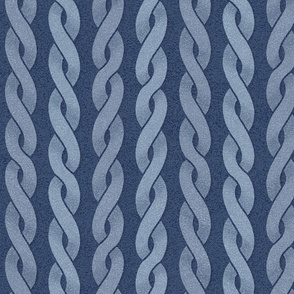 Braided Cords textured in blues at 75 percent