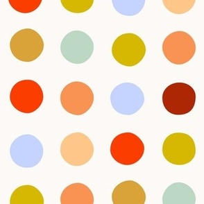 Multicolor spot large scale bright mustard red by Pippa Shaw