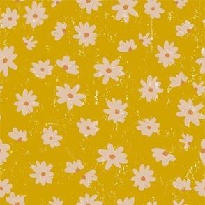 pretty daisy on mustard