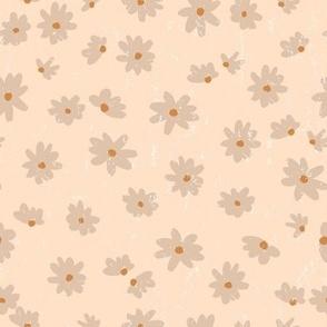 pretty daisy on peach