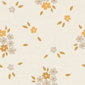 Daisies Floral Cream Linen_Iveta Abolina
