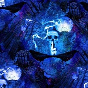 Haunted Forest Phantasmagoria Blue - Large