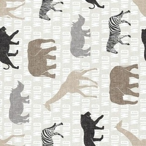 safari animals - neutrals - wild - (90) C21