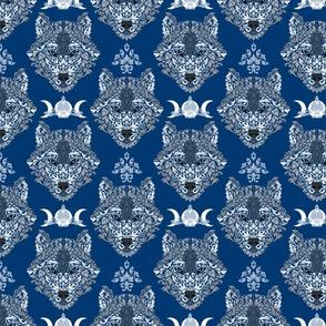 Gray Wolf Damask