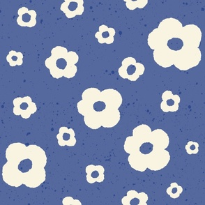 Speckled Floral in Blue