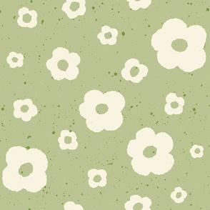 Speckled Floral in Light Green