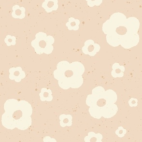 Speckled Floral in Beige