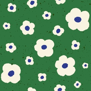 Speckled Floral in Green