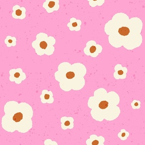 Speckled Floral in Bright Pink