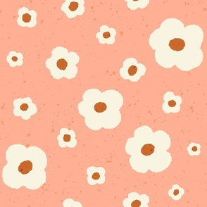 Speckled Floral in Peach