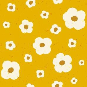 Speckled Floral in Mustard