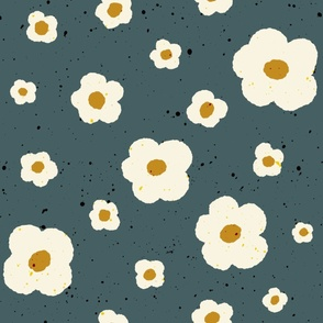 Speckled Floral in Dusty Green