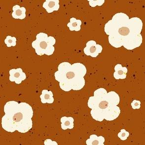 Speckled Floral in Brown