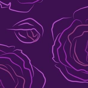 Dark Roses in purple large size