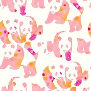 Pink Pandas Patterned