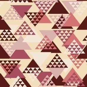 Triangles choco/beige backgraund