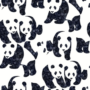 Bear-ly Camouflaged Panda Bears - with floral detail