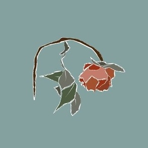 Frosty Rose Embroidery Template
