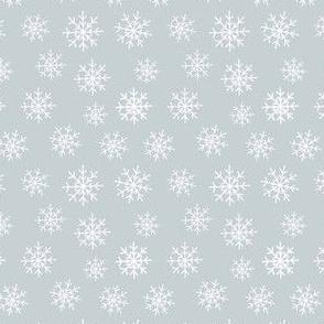 Snowflakes on silver grey