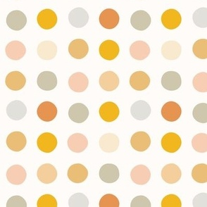 Multicolor spot medium scale pastel gold pink by Pippa Shaw