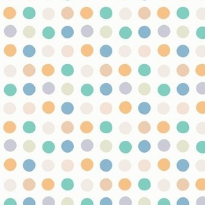 Multicolor spot small scale pastel blue jade by Pippa Shaw