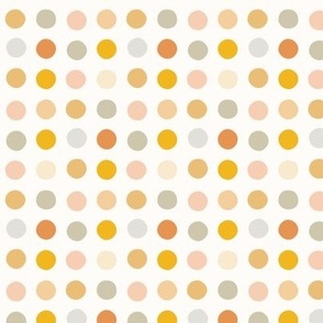 Multicolor spot small scale pastel gold pink by Pippa Shaw