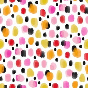 Painted Dalmatian Abstract - edgy