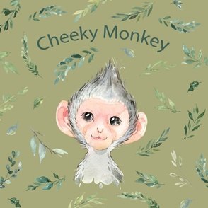 18x18 cushion cover monkey