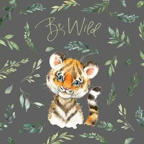 18x18 cushion cover tiger grey