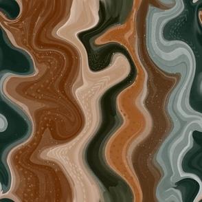 caramel and forest seamless fluid art