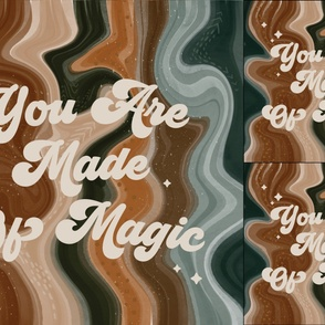 1 blanket + 2 loveys: you are made of magic caramel and forest