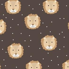 Sweet baby lion cub adorable kawaii kids wild animals neutral beige brown boys